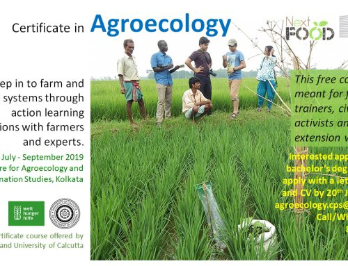 Applications are invited for admission into a 3 months' certificate course in Agroecology