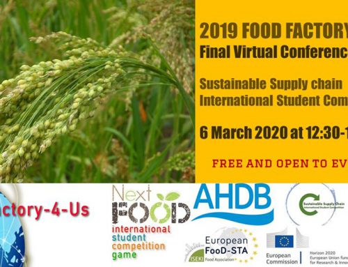 FINAL CONFERENCE ON SUSTAINABLE CEREALS. FOOD-FACTORY-4-US. 6 MARCH AT 12.30 CET