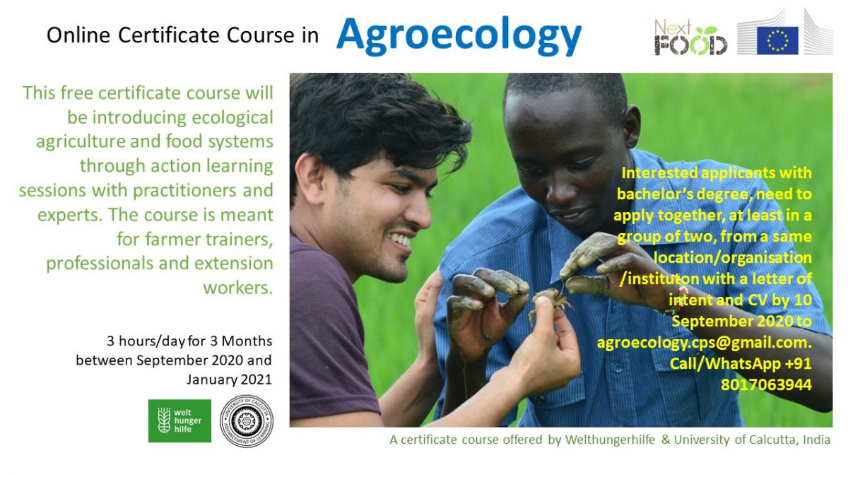CERTIFICATE COURSE in AGROECOLOGY